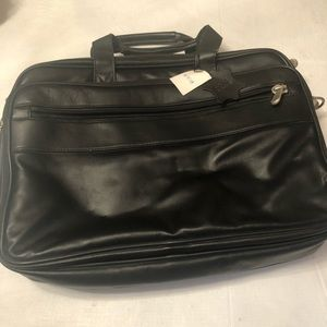 Other - Genuine black leather briefcase